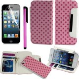 Leather Wallet Flip Case Cover for Apple iPhone 5 5s