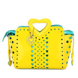 Sweet Heart Hollow out Fashion Leather Handbag (MBNO032086)