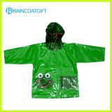 Shiny PVC/PU Kids Raincoat Rvc-075