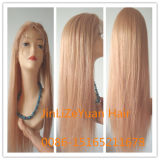 Long 24inchesstraight Blonde Brazilian Human Hair Lace Wig