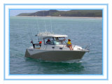 Ce Certificate 7.5 Meter Centre Cabin Aluminum Fishing Boat