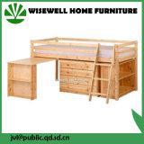 Pine Wood Children Bedroom Furniture Bunk Bed with Desk
