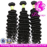 Top Fashion Hair Professional Manufacturer 100% Brazilian Virgin Remy Hair Extension Deep Wave Weft (TFH-NL0081)