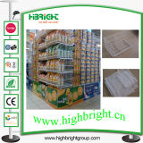Cash and Carry Supermarket Wire Stacking Basket with Beveled Edge