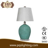 White Shade for Pattern Green Modern Table Lamp