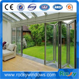 Aluminum Folding Doors Price with Double Tempered Glass