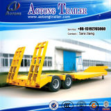 Hot Sale 2 Axles Excavator Transport Low Flatbed Truck Trailer