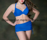 Lady′s Large Size Bikini, Plus-Size Two Piece Swimming Suit