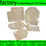 Round Wooden Disposable Plates, Disposable Wood Plate for Restaurant