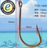 Anglers Top Quality Stainless Steel Extra Strong Anti Rust Fishing Hook 7731-14/0