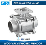 Stainless Steel Soldering 3-PC Ball Valve with ISO5211