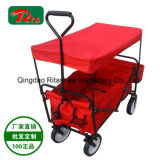 Roll Container China Kid Wagon Usage Handle Pulling Along Cart Fw3016