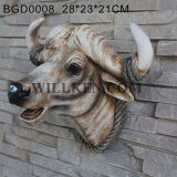 Resin Wall Animal Head Sculpture Bull Head for Home Deocr