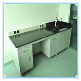 Steel Food Laboratory Equipment Central Bench with Reagent Shelf