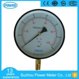 200mm Factory Price Black Steel Case Brass Connection Manometer