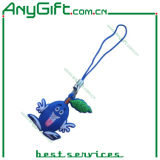 PVC Mobile Phone Strap with Customized Shape and Color