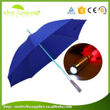 Manual Open Straight Umbrella with Light on Handle