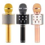 Gold Rose Black Bluetooth Karaoke Wireless Speaker KTV Mini Portable Microphone