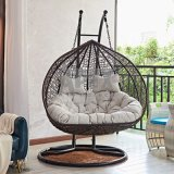 Costly Egg Shaped Indoor Outdoor PE Rattan Swing Chair for Garden Patio Home Hanging Chair