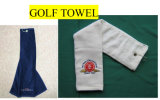 100% Cotton Pure Cotton Cut Pile Towel Movement Antibacterial Quick Dry Golf Towel with Custom Logo