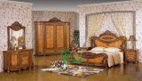 Cherry Color Classic Bedroom Furniture with Green Furniture Paint (YF-899)