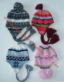 Warm Hat/Cute Knitting Pattern Earflap Hat (DH-K0104)