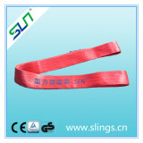 Red Polyester Webbing Sling Without Eye