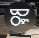 Illuminated Double-Side Round Light Box for Display