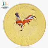 2017 Souvenir Bespoke Painting Rooster Medallion Custom Commomerate Coins (JIABO-1037)