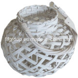 Customized Eco-Friendly Handmade Delicate Willow White Lantern with Handle