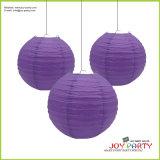 Purple Round Paper Lantern for Wedding Decoration