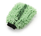 Green Microfiber Car Cleaning Mitt (JL-010)
