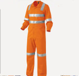 100% Cotton High Visible Reflective Tape Workwear Coverall