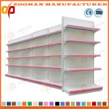 Cold Steel Double Sided Gondola Supermarket Shelf Display Rack (Zhs30)