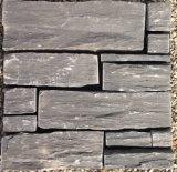 China Natural Slate Black Loose Wall Cladding Stone (SMC-FS041)
