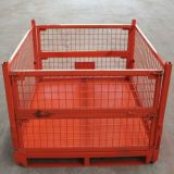 Warehouse Storage Wire Mesh Pallet Container Cage with Powder Coating