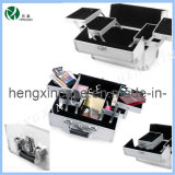 Silver Makeup Artist Case Cosmetic Beauty Case Professional