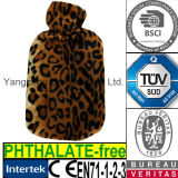 CE Leopard Plush Fur Cover for Hot Water Bottle