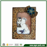 Fashion Leopard-Print Wooden Craft Picture Frame for Gift