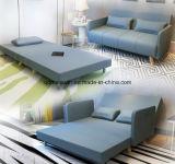 Double Folding Multi-Function Sofa Simple Lunch Nap Cloth Art Sofa Bed Three Folding Sofa Bed (M-X3266)