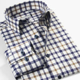 OEM Custom High Quality Plaid Flannel Mens Casual Shirts Pattern