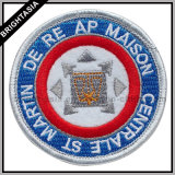 Quality Metallic Silver Embroidery Patch for Iron on Garment (BYH-10124)