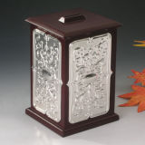 Silver Plated with Wooden Money Box (BW 10193 DLN)