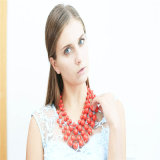 New Design Red Acrylic Beads Necklace Fashion Jewelry