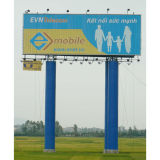 Outdoor Double Pole Supported Trivision Billboard (F3V-131S)