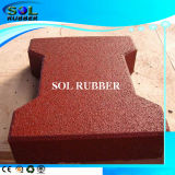 CE Certificated Solid Color Outdoor Dog Bone Rubber Tile