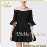 Wholesale Black off Shoulder Elegant Party Dresses for Ladies