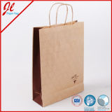 Fashion Wine Kraft Paper Promotional Bag for Shopping Packaging Gift Package