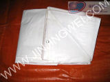 Double White Durable Tarpaulin Fabric in Lamination