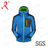 Top Quality Outdoor Men′s Softshell Jacket with Hoody (QF-4045)